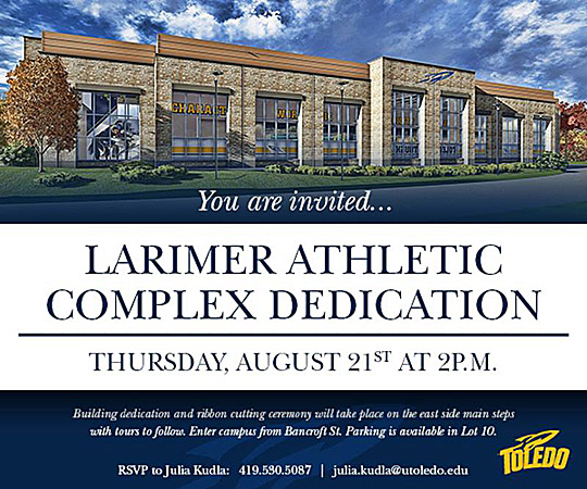 Larimer dedication invite
