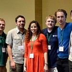 Members of the East Lakes Division team that won this year's World Geography Bowl are, from left, Steve Schultze from Michigan State University, Alex Colucci from Kent University, Lisa Dershowitz from Miami University, and UT students David Eichenauer, Michael Chohaney and Evgeny Panchenko.