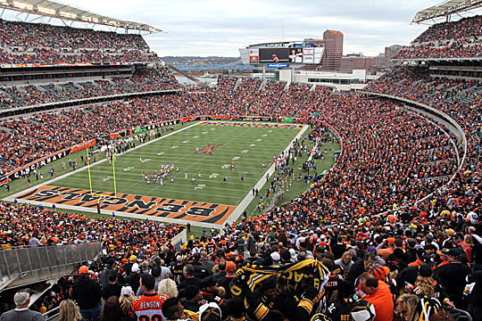 Paul Brown Stadium is home to the Cincinnati Bengals.