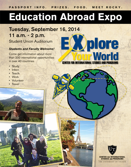 study abroad expo poster