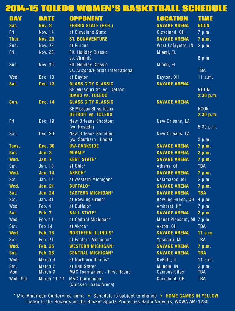 womens bball schedule card