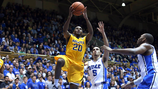 Senior Julius Brown scored a team-high 19 points in Toledo's 86-69 loss at No. 2 Duke.