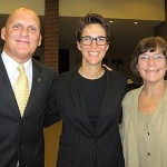 "Dr. Clinton Longenecker and his wife, Cindy, right, posed with Rachel Maddow, center, host of ""The Rachel Maddow Show,"" at a recent conference at the U.S. Military Academy in West Point, N.Y. Longenecker and Maddow were keynote speakers at the conference."