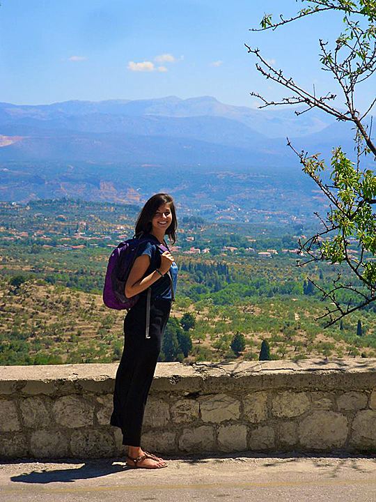 Andrea Tsatalis took third place in the student category with this photo of Mystras, Greece.