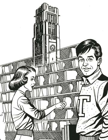 Pete Hoffman also was known for illustrations for his alma mater, The University of Toledo.
