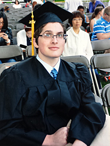 Thanks to his treatment by UT Health, Nicholas Kuns was able to graduate from Bowling Green State University.