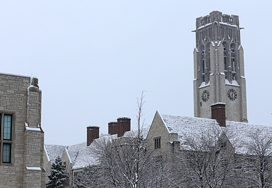 University Photographer Daniel Miller took this shot in November. There are rare occasions when severe winter weather may alter operations at the University.