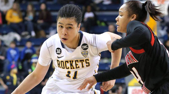 Jay-Ann Bravo-Harriott led the Rockets with 17 points in the win over Miami.