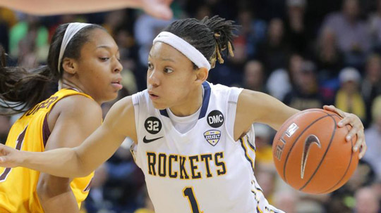 Brenae Harris recorded the first triple-double in school history to lead Toledo to a 72-64 victory over Wright State Friday in the first round of the 2015 Postseason WNIT.