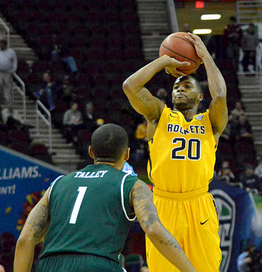 Senior Julius Brown and the Rockets have reached the MAC Tournament semifinals for a second straight year