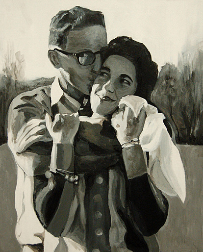 """""""Jerry and Sandra,"""" acrylic, by Grace Parr"""