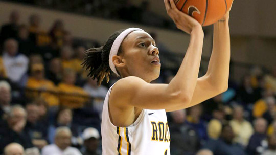 Junior Brenae Harris had 16 points, 11 assists and 11 rebounds to record the first triple-double in UT history when the Rockets beat Wright State, 72-64, in the first round of the WNIT.