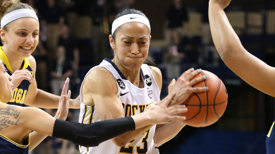 Senior Inma Zanoguera led the Rockets with 14 points and a game-high six assists in her last contest for Toledo.