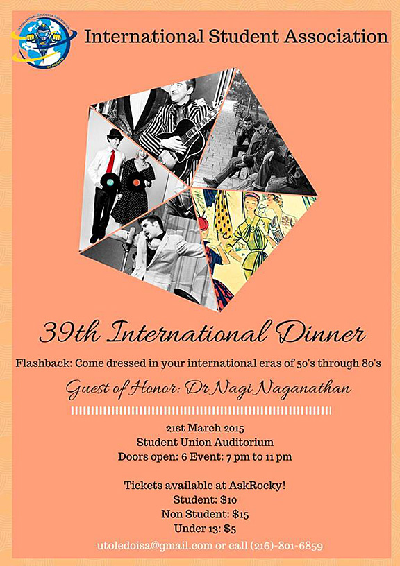 International Student Association Dinner 2015