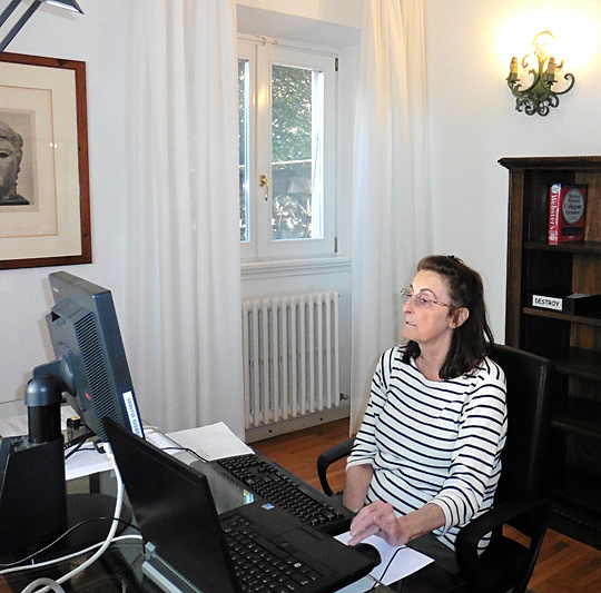 Dr. Barbara Alice Mann worked on a project focusing on international massacres in Italy in November thanks to the Bellagio Resident Fellows Program.