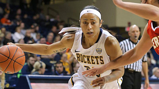 Senior Inma Zanoguera and the Rockets will battle Eastern Michigan Wednesday, March 11, at approximately 2:30 p.m. in the second round of the MAC Tournament in Cleveland.