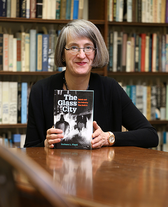 Barbara Floyd will discuss her new book, The Glass City: Toledo and the Industry That Built It, Thursday, April 16, at 4 p.m. in Carlson Library's Ward M. Canaday Center for Special Collections.