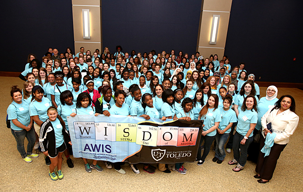 More than 150 girls from area high schools attended last year's Women in STEMM Day of Meetings (WISDOM).