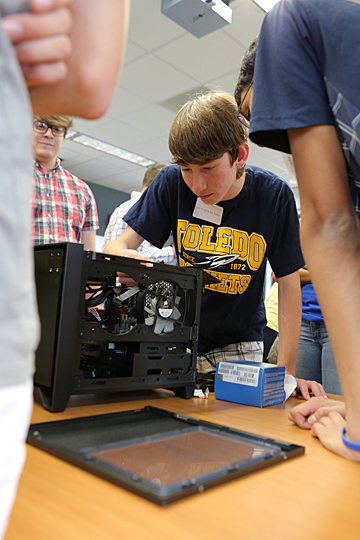 Students built a computer during last summer's Technology Camp.