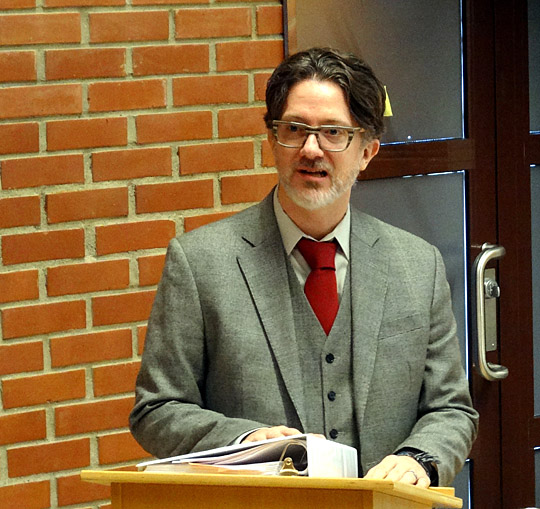 Dr. Tony Jenkins delivered a lecture on peace education in Trondheim, Norway in February.