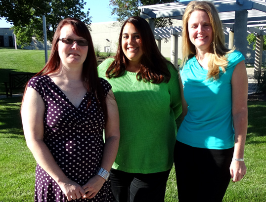 Inpatient coders at UTMC are, from left, Sarah Hamblin, Jennifer Pawlaczyk and Angela Huss.