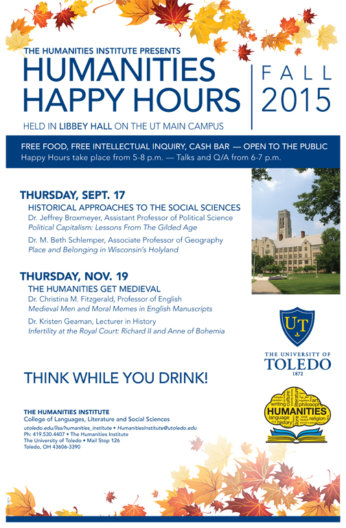 humanities happy hour fall 2015