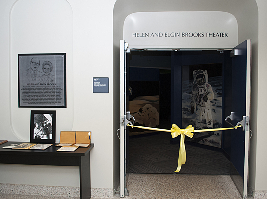 The Helen and Elgin Brooks Theater in Ritter Planetarium was dedicated last month.