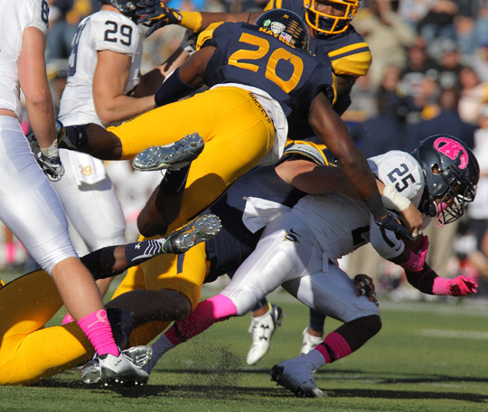 The Rockets held Kent State to 257 yards of total offense Oct. 10 in their 38-7 Homecoming victory.