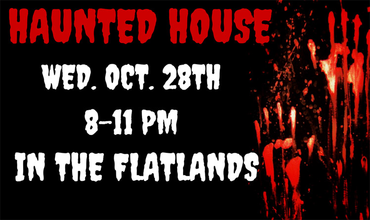 haunted house and Comedy Night Banner copy
