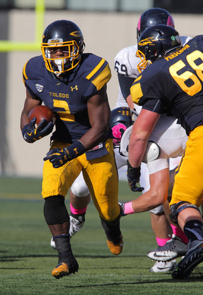 Sophomore running back Terry Swanson rushed for 161 yards in the Homecoming victory over Kent State.