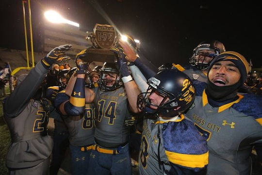 The Toledo Rockets will look to keep the Battle of I-75 Trophy.