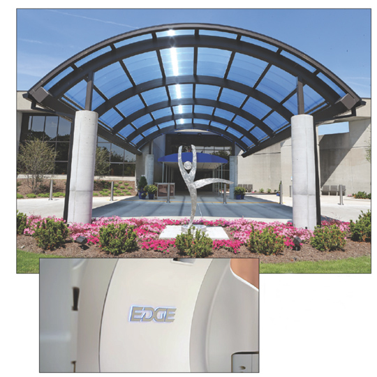 The Eleanor N. Dana Cancer Center is the home of the Edge radiosurgery system.