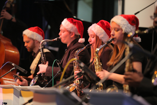 Students performed during last year's jazz holiday concert.
