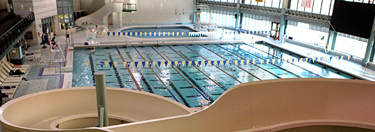 Aquatic area of the Student Recreation Center