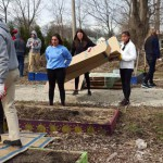 Alpha Xi Delta and Pi Kappa Alpha, a social sorority and fraternity, teamed up to clean up a local garden for the Big Event last spring.