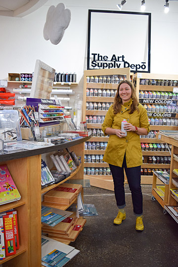 UT alumna Jules Webster, artist and owner of the Art Supply Depo, was photographed by Abigail Ruppel. Webster, a Toledo arts activist, received a bachelor of fine arts degree from the University in 2007.