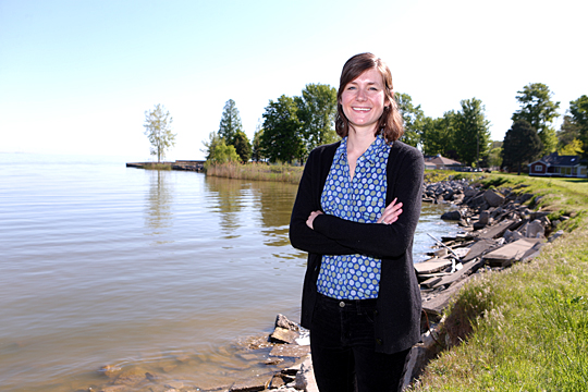 UT graduate student Holly Embke is the first researcher to discover direct proof of grass carp, a type of invasive Asian carp, spawning in a Great Lakes tributary.