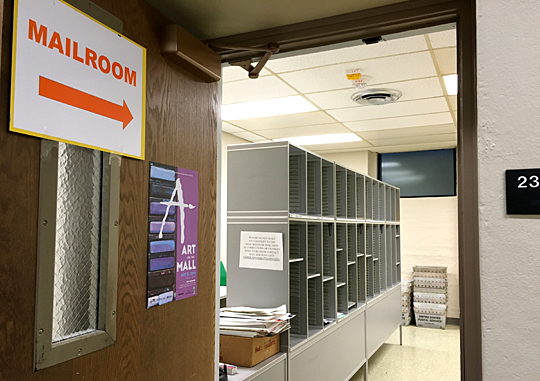 web UHall mailroom