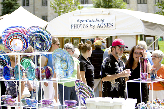 More than 100 artists will set up booths on Centennial Mall for this year's free art fair.
