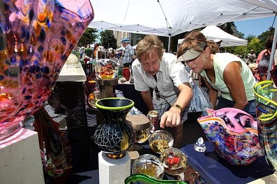 Glass, jewelry, acrylic, watercolor, woodwork, photography, oil, mixed media and more will be featured at Art on the Mall.