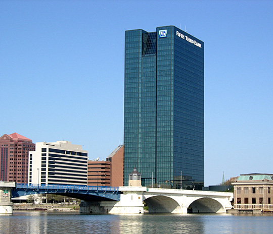 The Fifth Third Building is the tallest in the Glass City; come check out that view.