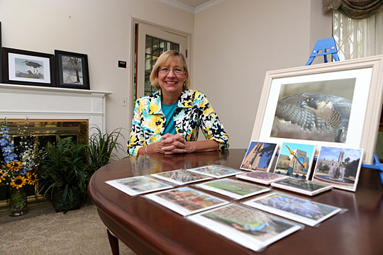 "Michele ""Mickey"" Ross displayed some of her photography that she will have in frames, on coasters and notecards, and as prints at Art on the Mall Sunday, July 31."