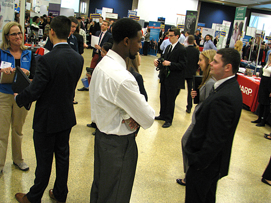 Some 500 UT College of Business and Innovation students are expected to attend the fall job fair.