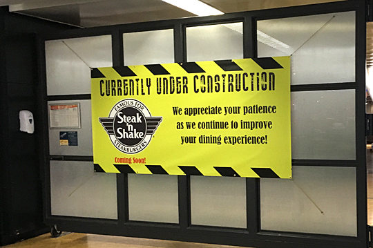 Ut news blog archive construction sign for Steak n shake dining room hours