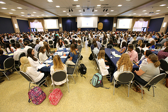Students in the UT Interprofessional Approach to Patient Care Program attended a kickoff event at the start of fall semester in the Student Union Auditorium.