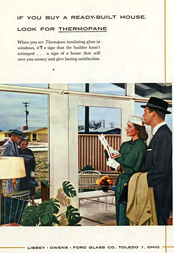 The picture window became the most ubiquitous symbol of the post-war ranch-style house.