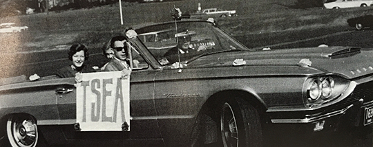 Members of the Toledo Student Education Association rode in the 1965 Homecoming parade.
