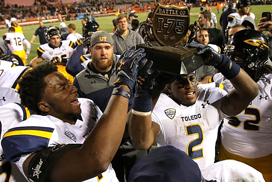 The Rockets have never relinquished possession of the Battle of I-75 Trophy, which was first awarded in 2011.