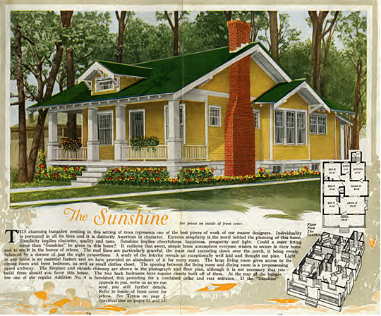Aladdin was one of the largest sellers of kit houses, including the Sunshine model.