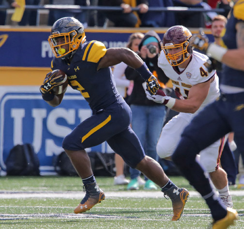 Junior running back Terry Swanson carried the ball nine times for 47 yards.